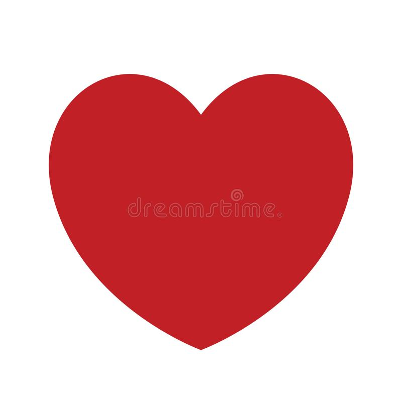 Heart icon vector. Outline love symbol. Abstract heart shape vector. Vector illustration. Red heart icon in flat style. The heart as a symbol of love. Amazing stock illustration