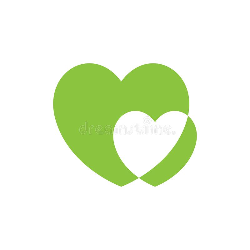 Heart icon vector. Outline love symbol. Abstract heart shape vector. Vector illustration. Green heart icon in flat style. The heart as a symbol of love. Amazing vector illustration