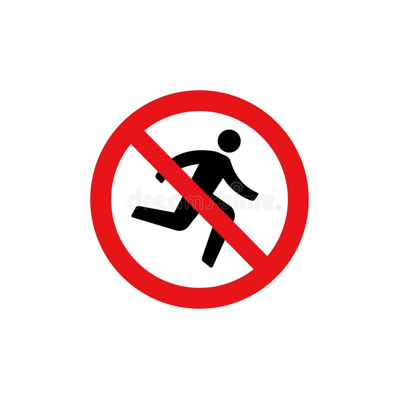 Prohibition sign icon / Do not rush stock illustration