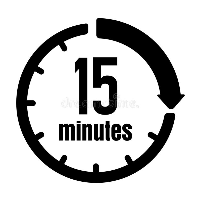 Clock , Timer ,time Passage Icon / 15 Minutes Stock Vector - Illustration  of hour, number: 161234703
