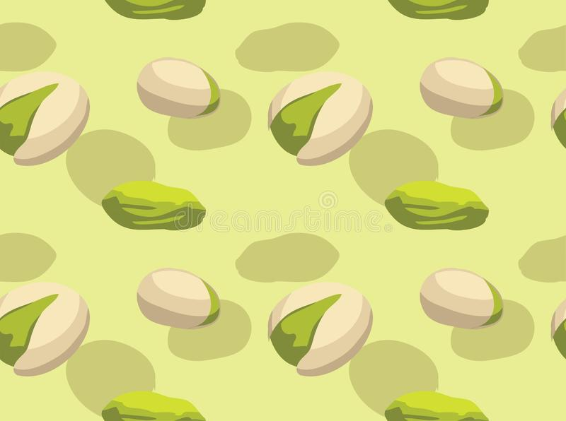 Food Pistachio Vector Seamless Background Wallpaper. Food Wallpaper EPS10 File Format royalty free illustration