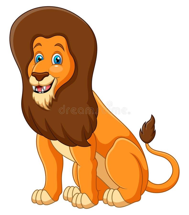Cartoon cute lion happy animal. Vector illustration of Cartoon cute lion happy animal n stock illustration