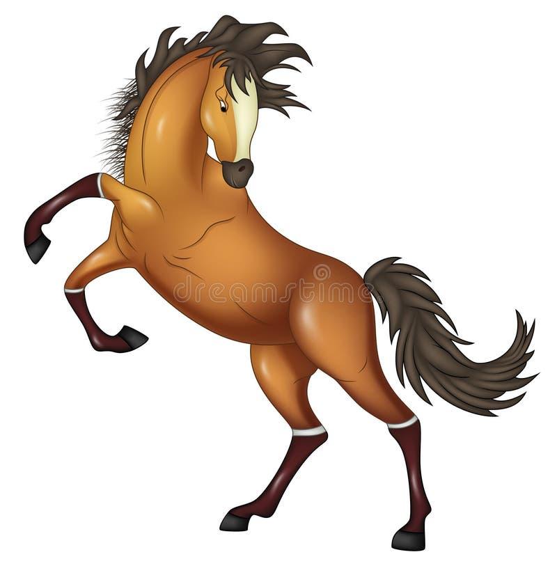 Horse cute illustration vector. Vector illustration of Horse cute illustration vector n stock illustration