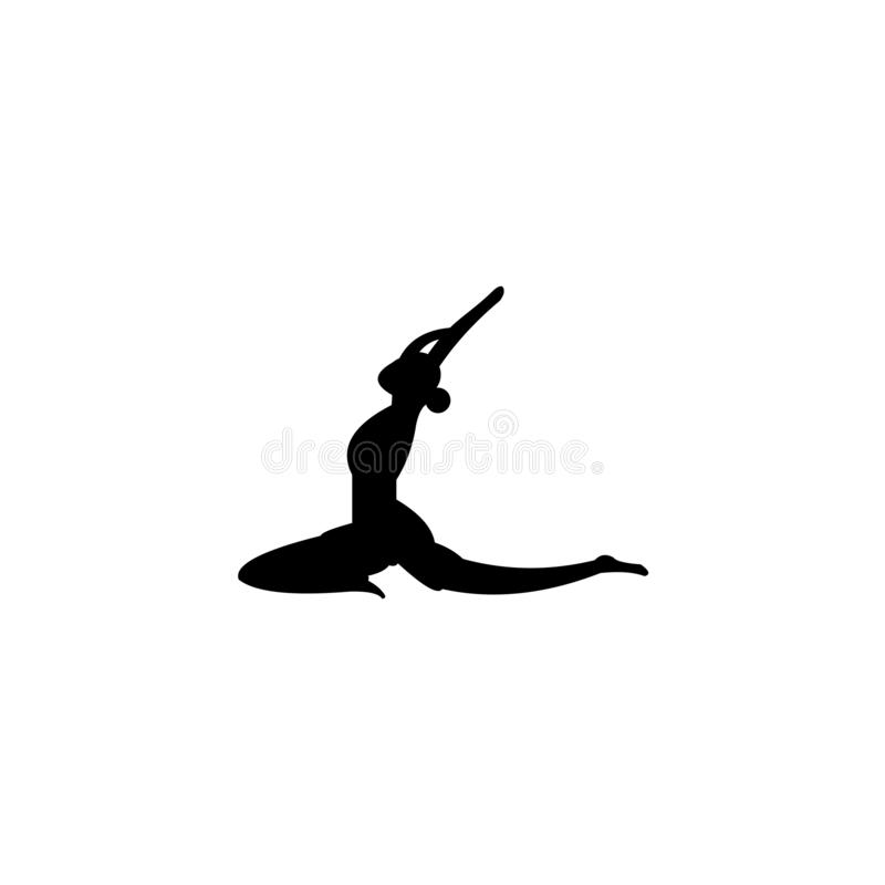 Slim sportive young woman doing yoga stock illustration