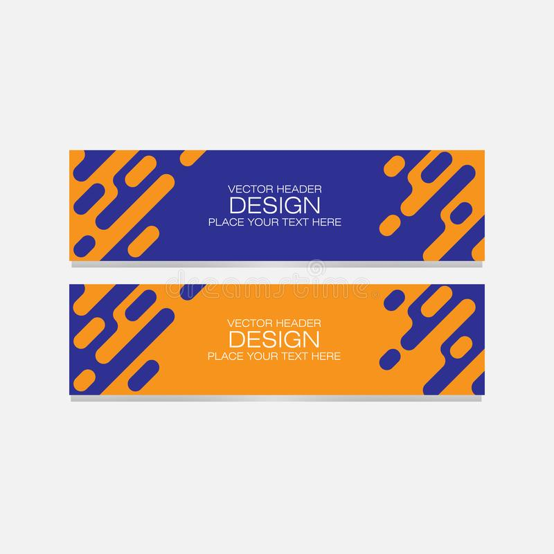 Vector abstract design banner web template. for web,business and company. Set of vector design elements vector illustration