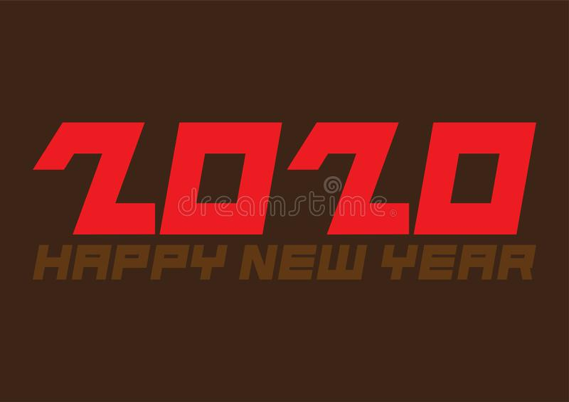 Happy New 2020 Year Festive poster or banner design stock image