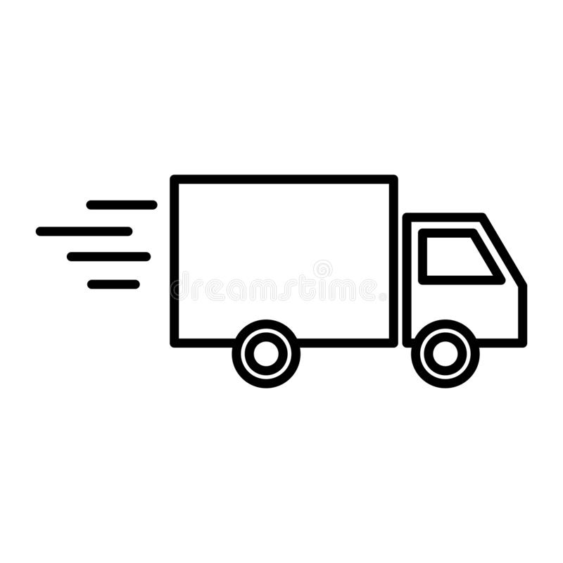 Delivery icon vector stock photo