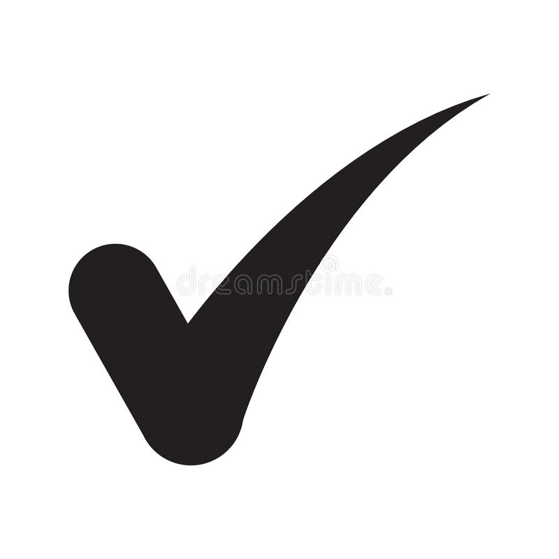 Check mark icon in trendy flat style stock photo