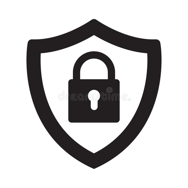Security icon on white background. Vector Illustration stock photos