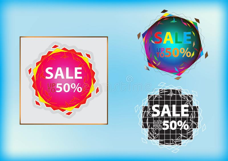 Striker discount offer for advertising banners and posters stock illustration