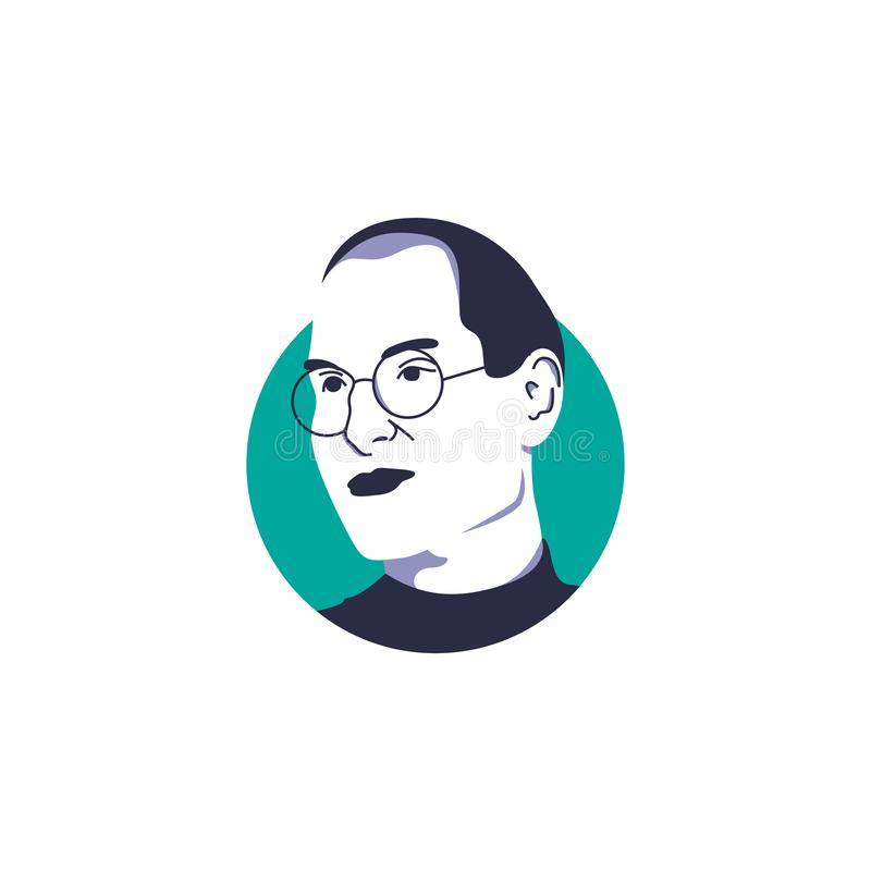 Steve Jobs vector illustration isolated, suitable for your startup content vector illustration