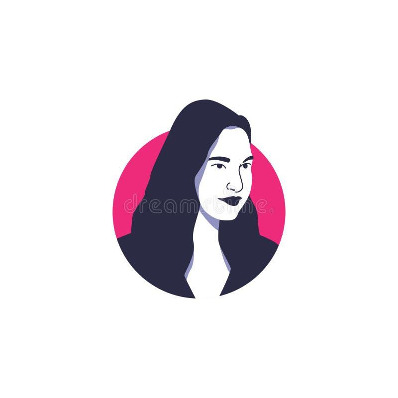 Gal Gadot face portrait vector illustration. Hollywood actress celebrity movie,  wonder woman main actresses, Gal Gadot vector illustration style stock illustration