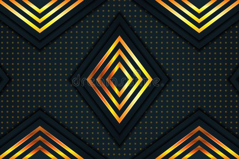 Modern luxury abstract polygonal background. golden dot pattern. triangle shape. vector illustration