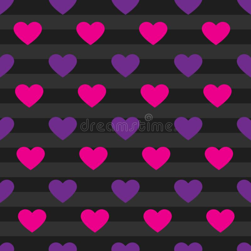 Vector heart pattern background royalty free stock photos