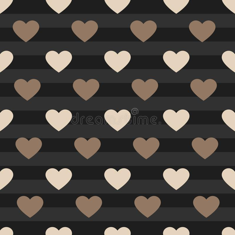 Vector heart pattern background stock photography