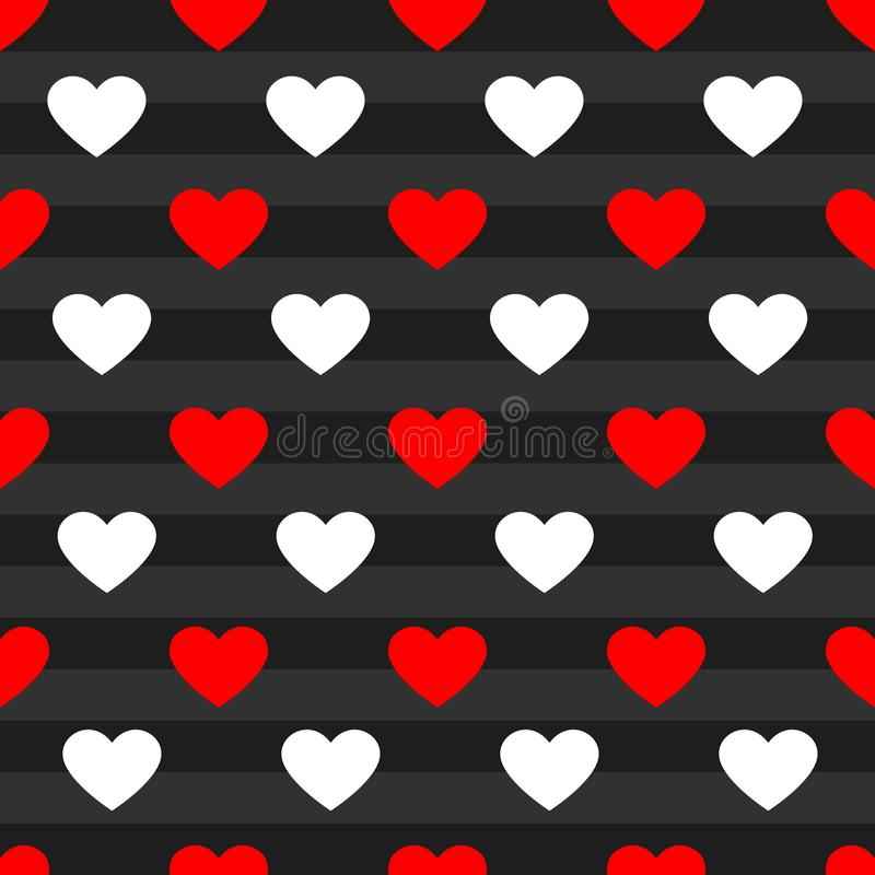 Vector heart pattern background royalty free stock image