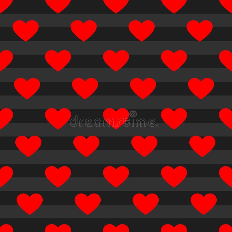 Vector heart pattern background stock image