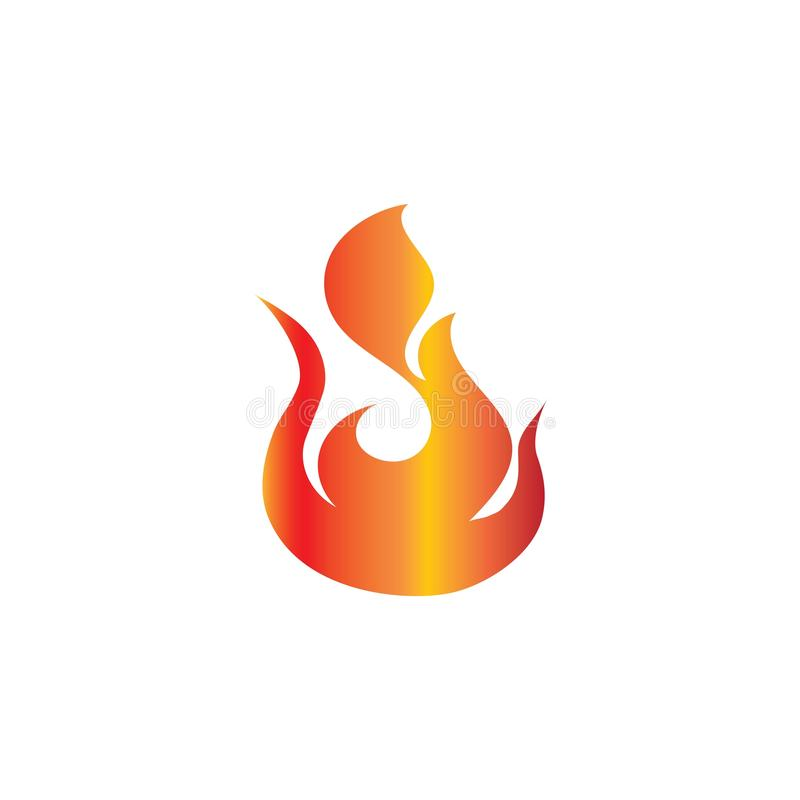 Fire logo template ilustrator vektor royalty free stock photos