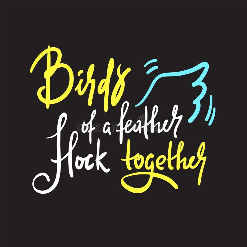 Birds Feather Flock Together Stock Illustrations 53 Birds
