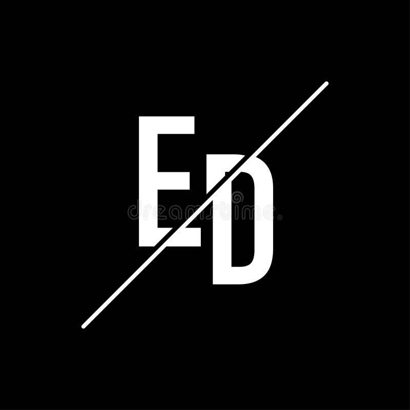 Letter ED Logo Design Stock Vector. Illustration Of