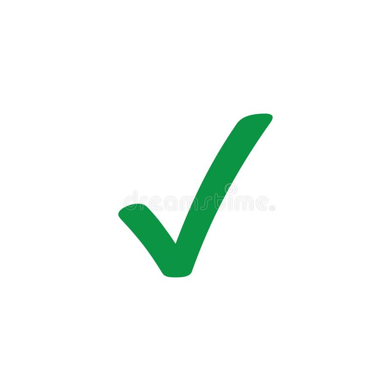 Confirm green vector icon symbol isolated on a white background.  vector illustration
