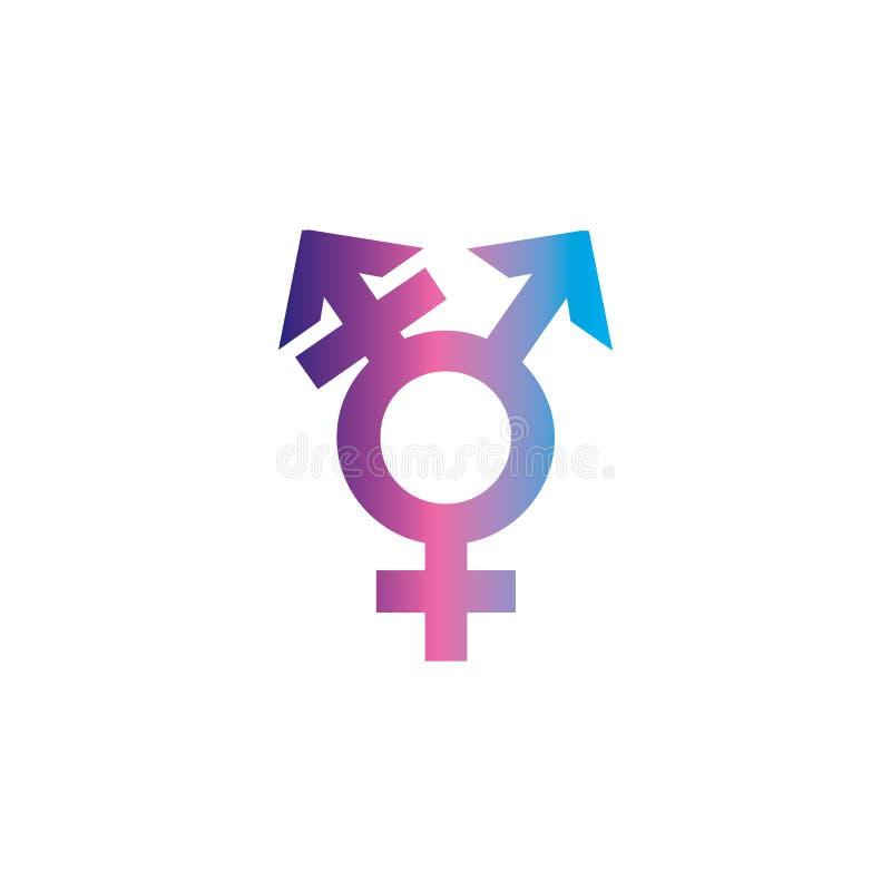 Transgender Symbol Combining Gender Symbols Vector Icon On White Background Stock Vector Illustration Of Pictogram Monochrome 173855640