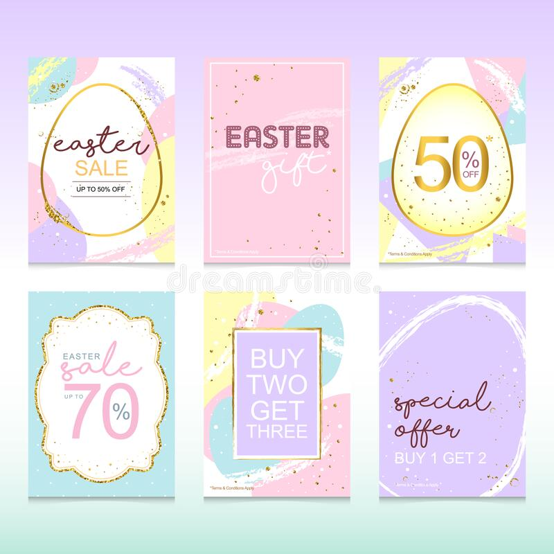 Happy easter sale poster template. Can use for promotion royalty free stock photography