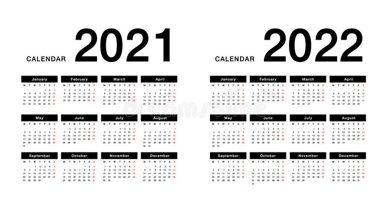 F1 2022 Calendar Download.Year 2021 And Year 2022 Calendar Horizontal Vector Design Template Simple And Clean Design Calendar For 2021 And 2022 On White B Stock Vector Illustration Of Month Graphic 175941967