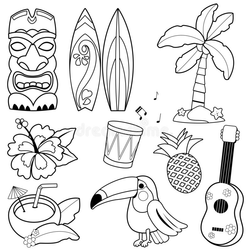 Hawaiian themed coloring pages | Free Printable Pictures | 800x800