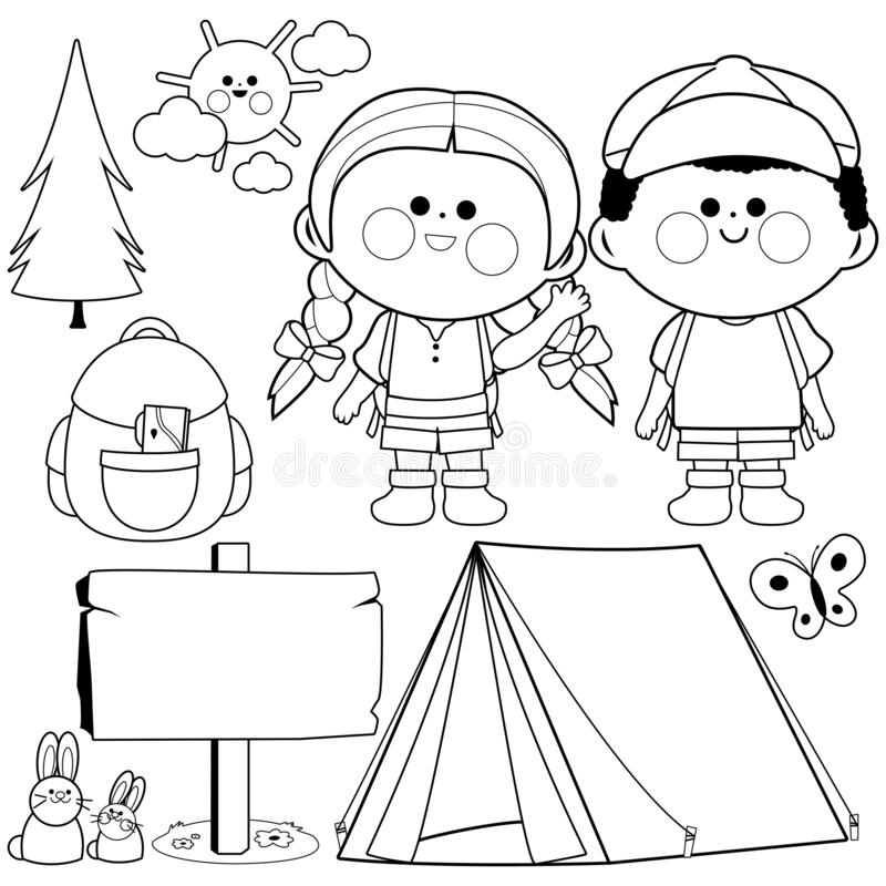 Camping Coloring Page Stock Illustrations 75 Camping Coloring Page Stock Illustrations Vectors Clipart Dreamstime