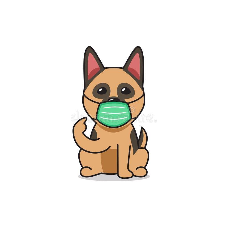 Dog Wearing Face Mask Stock Illustrations 128 Dog Wearing Face