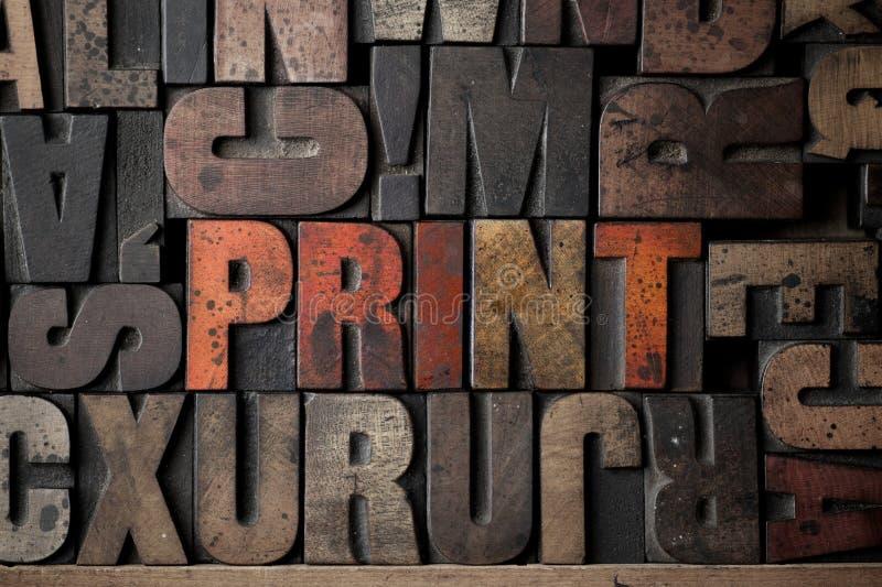 Download Print stock image. Image of letterpress, grunge, traditional - 18297073
