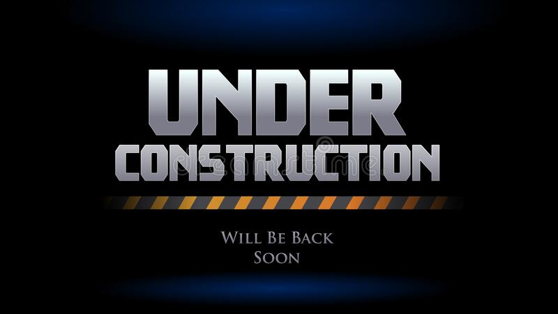 Website Under Construction We Will Be Back Soon. Spot Light Background With  Safety Line Vector Illustration Stock Vector - Illustration of  construction, line: 188248436
