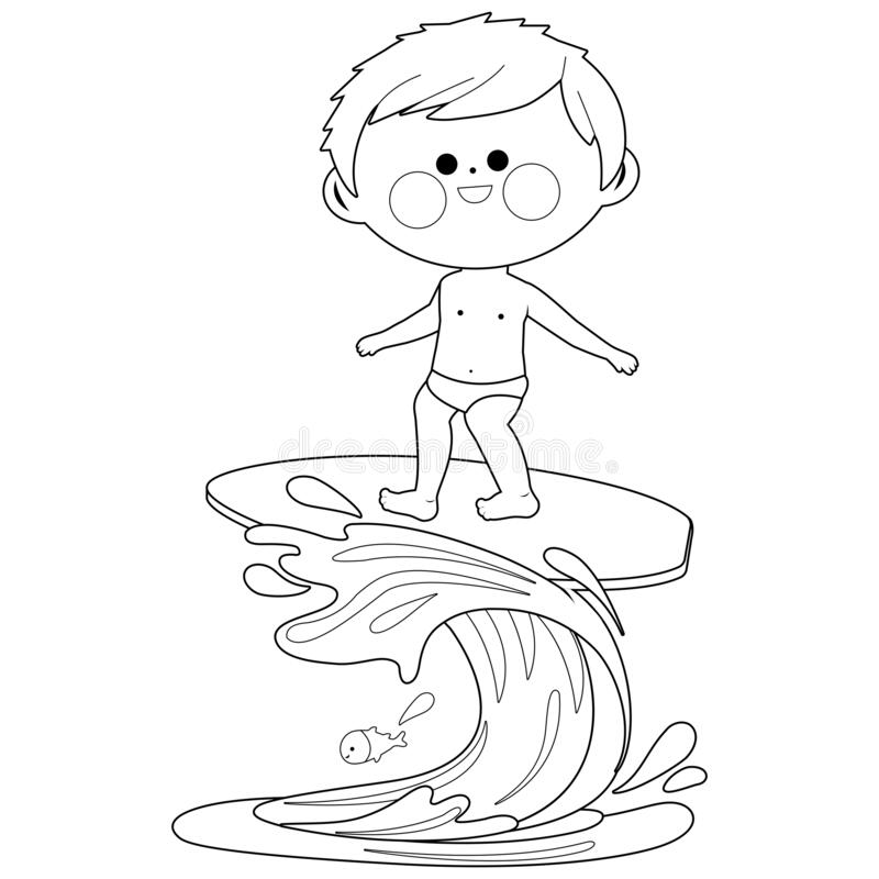 Coloring Surfing Stock Illustrations 296 Coloring Surfing Stock Illustrations Vectors Clipart Dreamstime