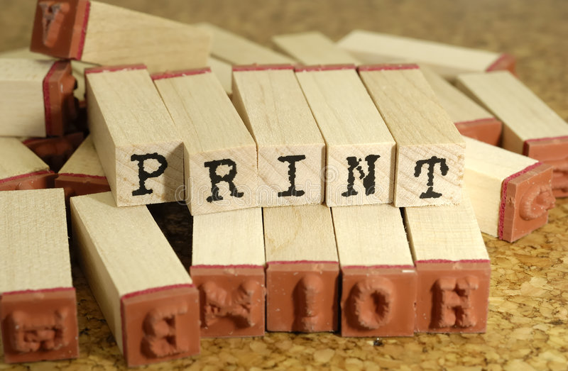 Print royalty free stock photography