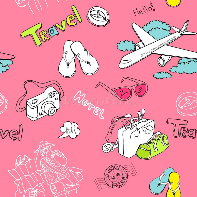 Download Print stock illustration. Illustration of luggage, style - 22444567