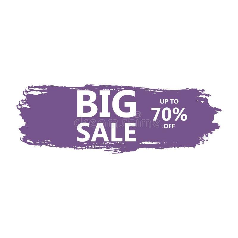 Print. Big sale discount business vector template. Paint brush spots, highlighter lines or felt-tip pen marker horizontal blobs. Marker pen or brushstrokes and vector illustration