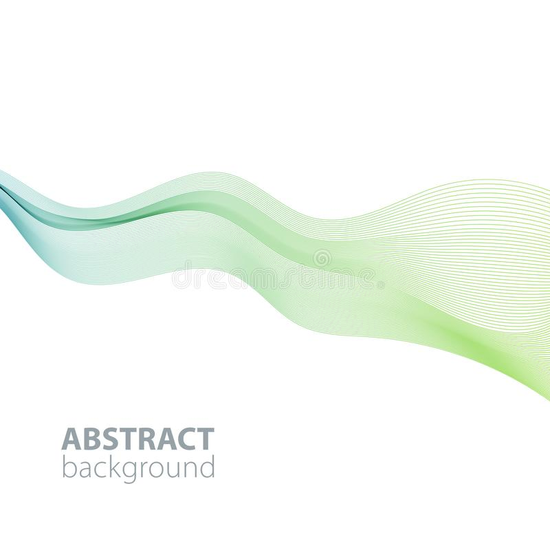 Abstract waves on the  white background. Transparent lines stock illustration