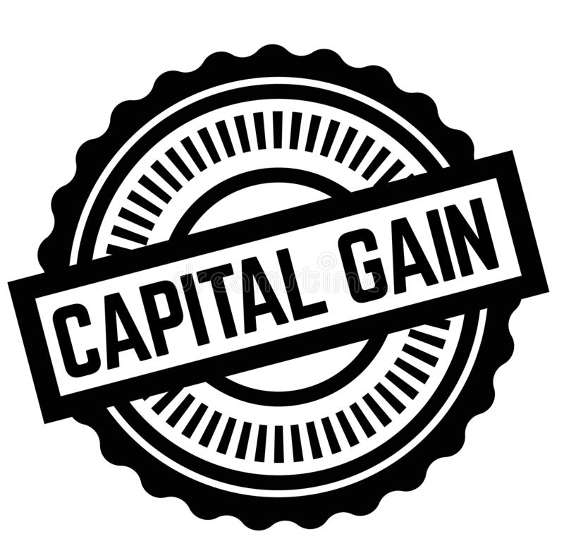 Print capital gain stamp on white. Background. Labels and stickers series stock illustration