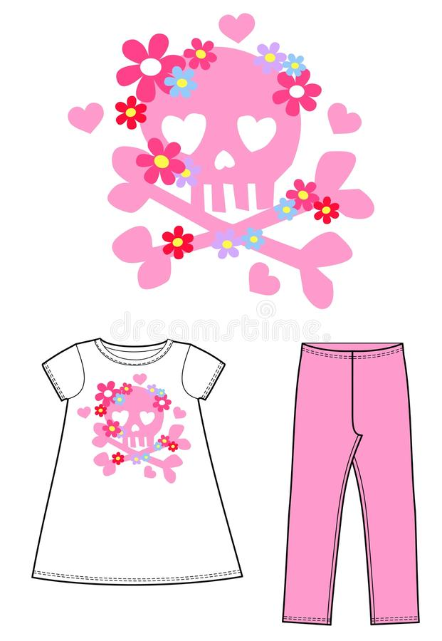 Print for children wear royalty free stock photography