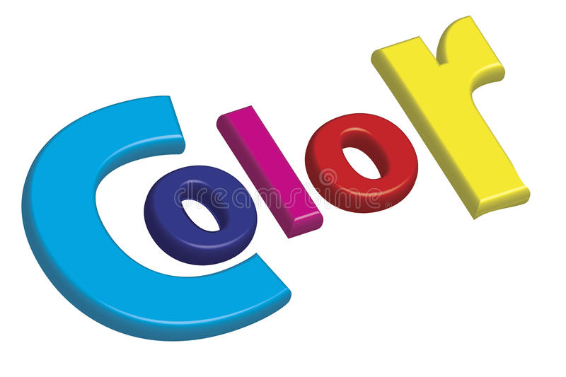 Download Print Color Letters Illustration With Process Colors CMYK Stock