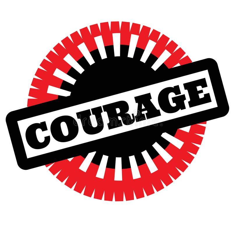 Print courage stamp on white. Background. Labels and stickers series royalty free illustration