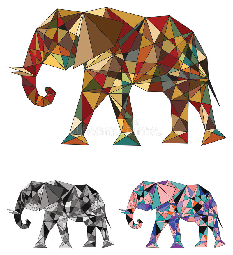 Elephant colored concept stock illustration