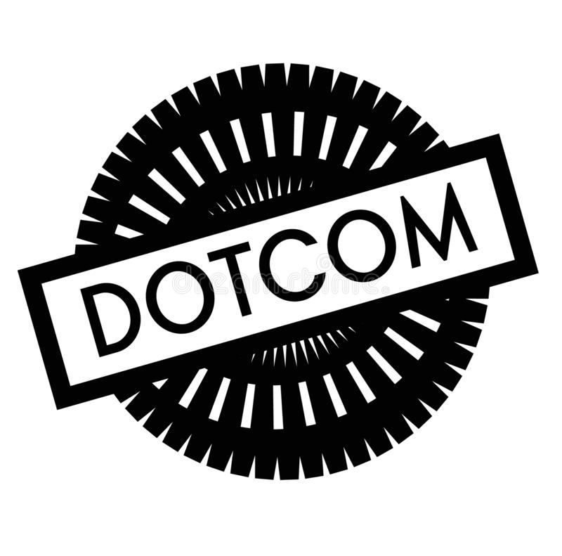 Print dotcom stamp on white. Background. Labels and stickers series royalty free illustration