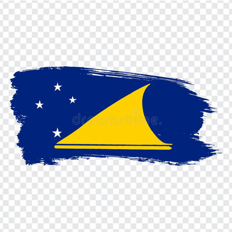 Flag Tokelau from brush strokes. Flag Tokelau on transparent background for your web site design, logo, app, UI. Oceania. Stock vector.  EPS10 royalty free illustration