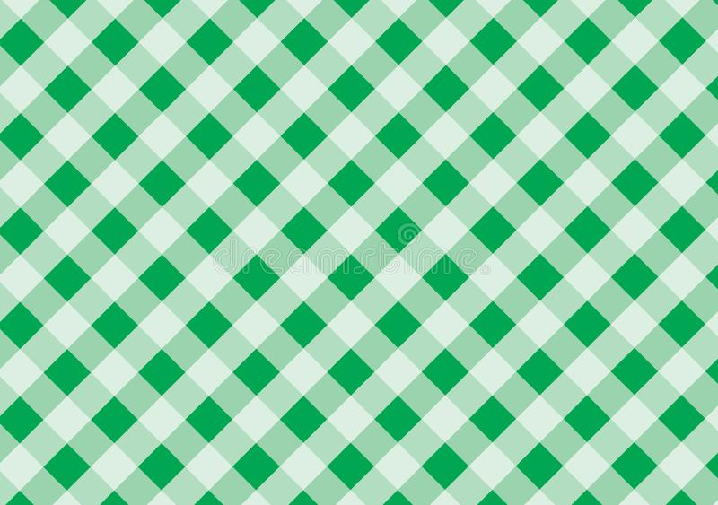 Green and white plaid vector background.Tablecloth.Vector i royalty free illustration