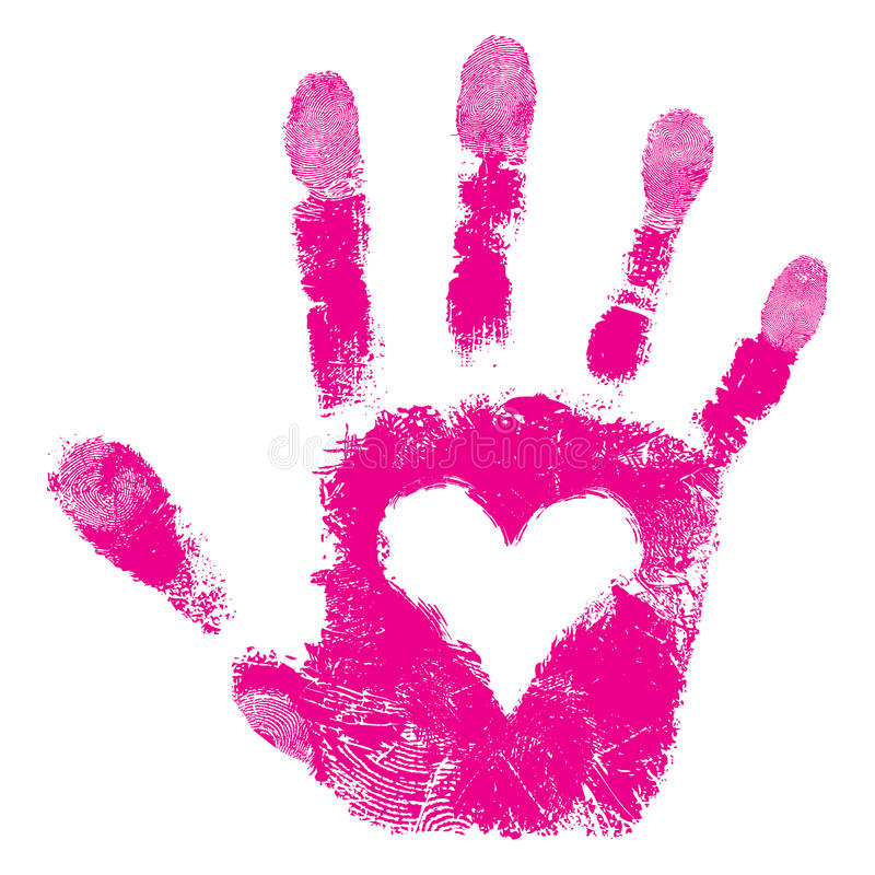 Print of hand of people support royalty free illustration