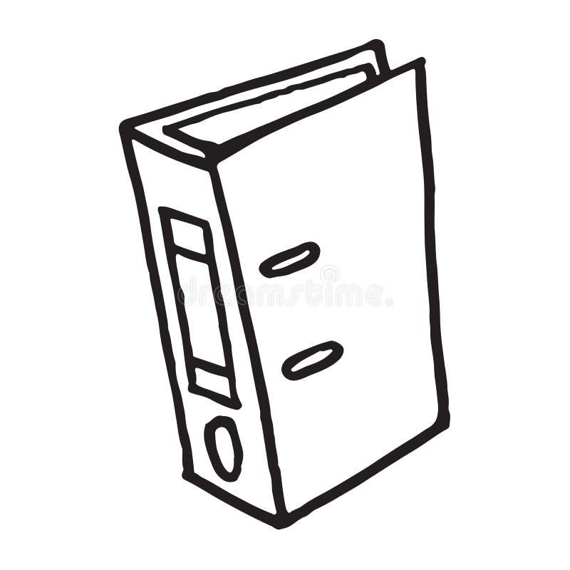 Handdrawn folder doodle icon royalty free illustration