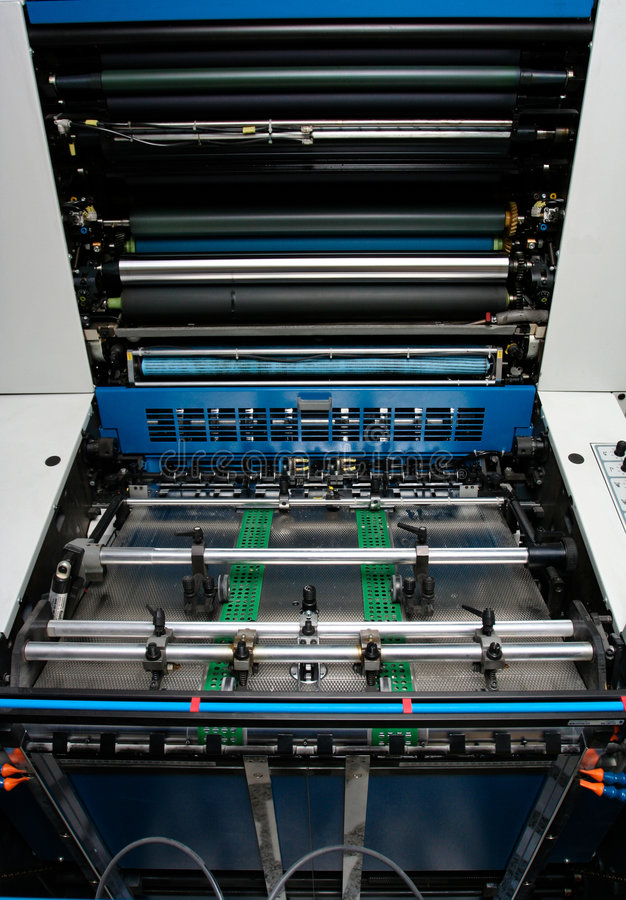 Print industry - Offset Printing Machine royalty free stock image
