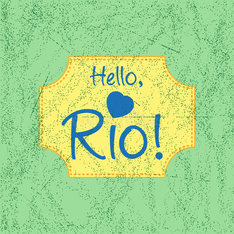 Download Print With Lettering About Rio Stock Vector